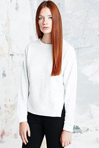 Cheap Monday Lies Fleck Sweatshirt in White - Urban Outfitters