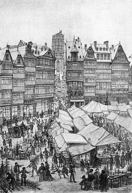 Weihnachten Wikipedia.Frankfurt Weihnachtsmarkt 1851 Frankfurter Weihnachtsmarkt