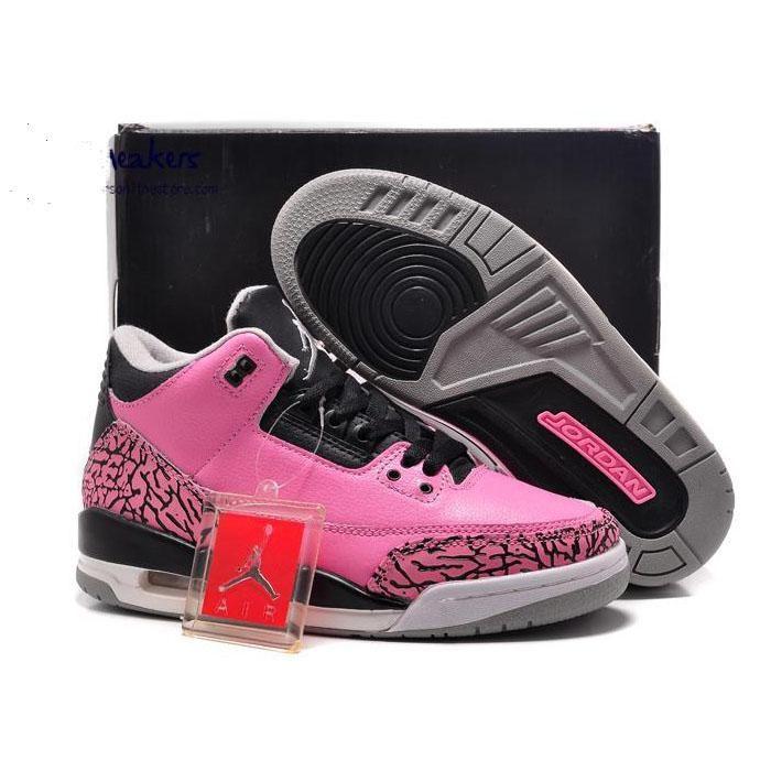 new product 4e26c 752ee Nike Girls Air Jordan 14 XIV GS Black Desert Pink US 3 5 7Y 13 12 11