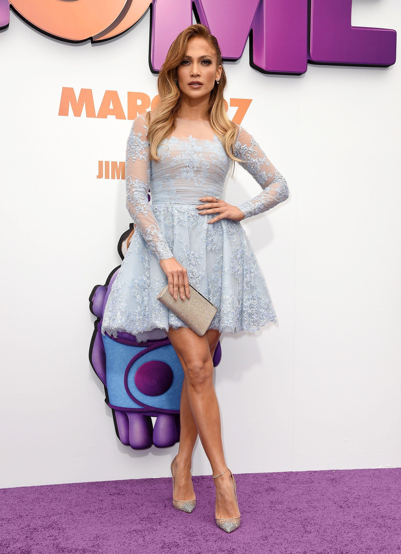 Jennifer Lopez arrives at the premiere of Lionsgates