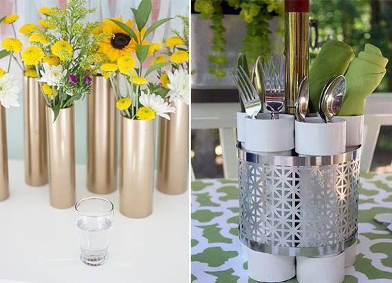vaso de flores com pvc - Pesquisa Google