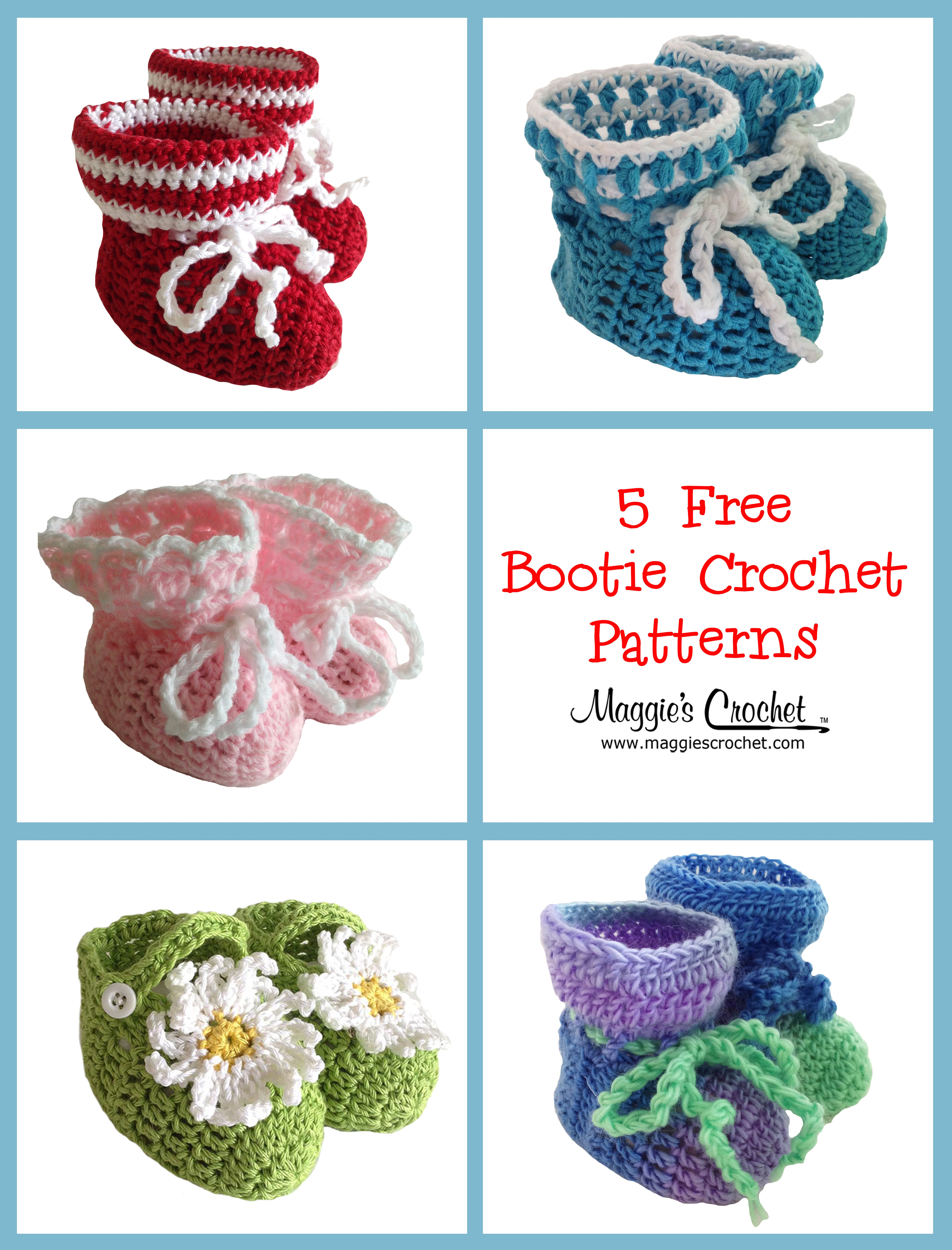 Mother\'s Day – 5 Free Crochet Baby Bootie Patterns : Maggie\'s ...
