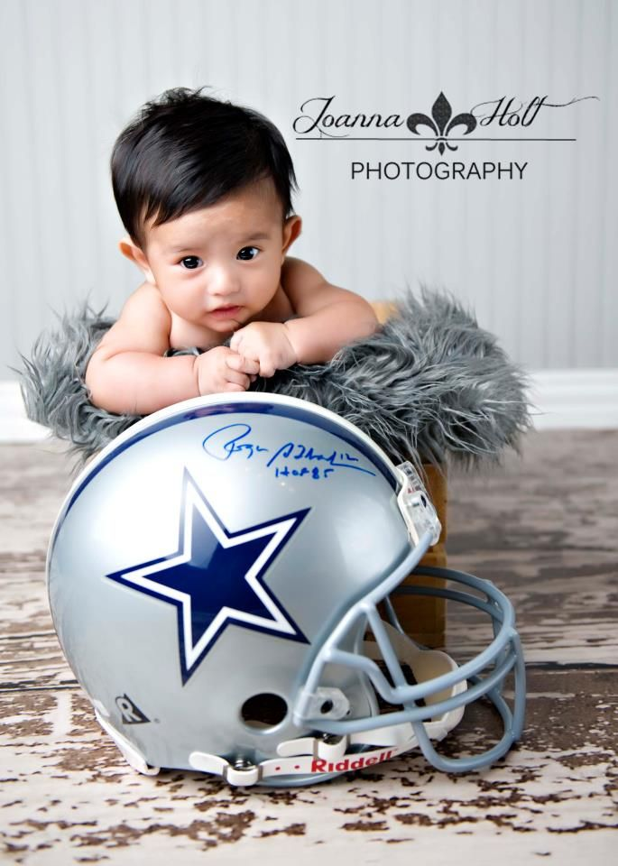 Dallas Cowboys 3 Month Photography Pose Photography