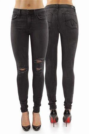 8abbb973 Sorte skinny jeans i en fantastisk miks som gjør at den holder fasongen og  sitter veldig bra. Høye i livet.Dette er en vask som er litt gråsort med ...