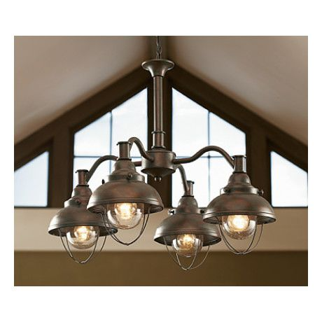 Cabelas grand river lodge fishermans four light chandelier