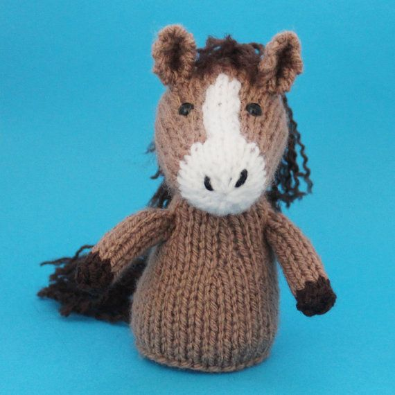 Horse Toy Knitting Pattern Pdf Legs Egg Cozy Finger Puppet