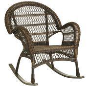 Santa Barbara Rocker Mocha Wicker Rocker Wicker Rocking Chair