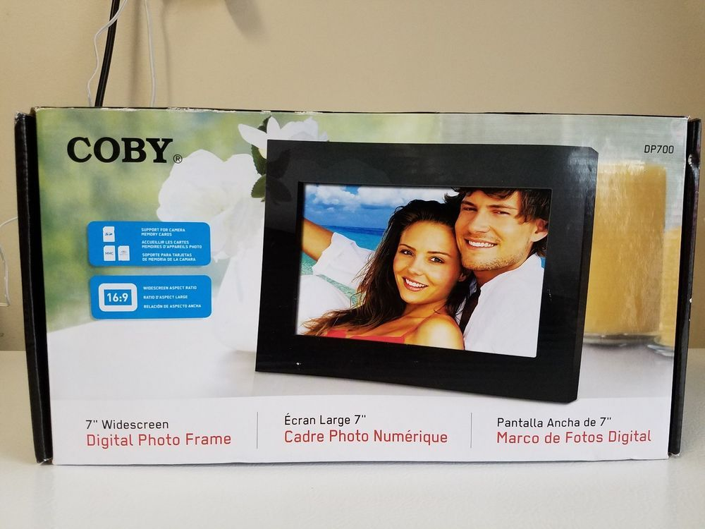 Coby Dp700 7 Widescreen Digital Photo Frame With Plug Play Black