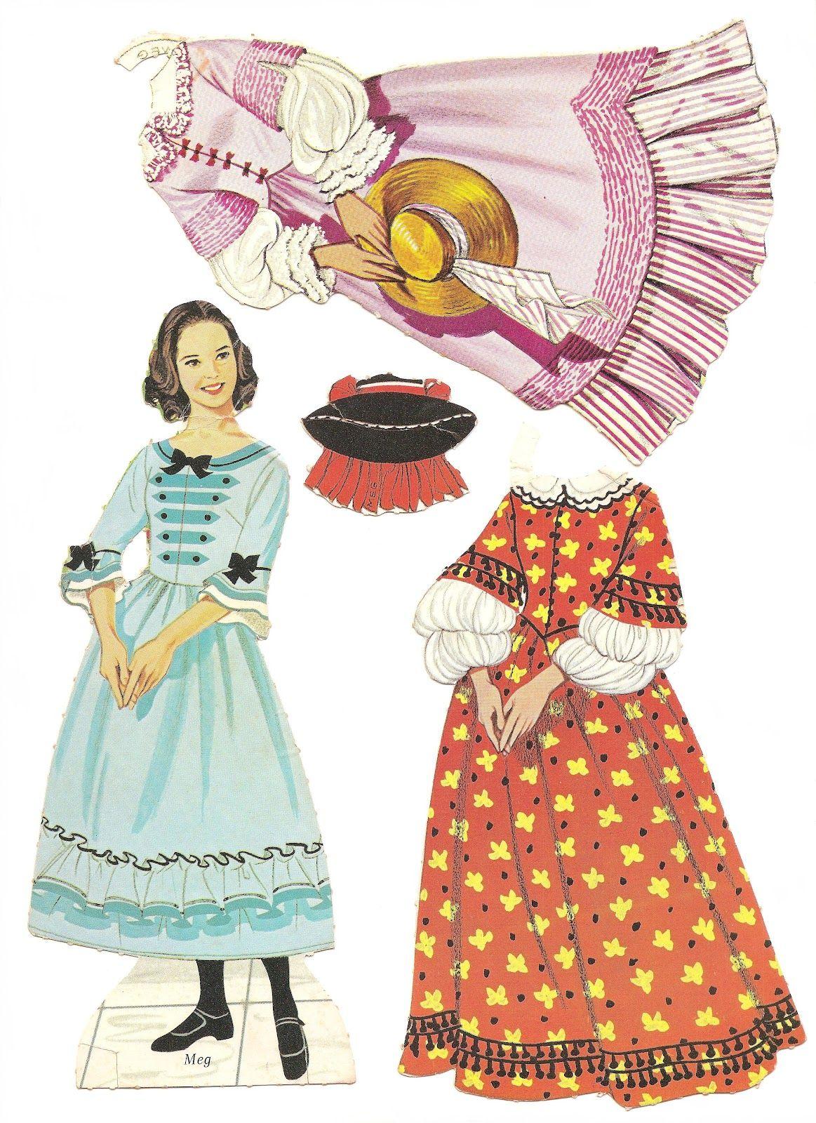 Mostly Paper Dolls My Little Women Paper Dolls