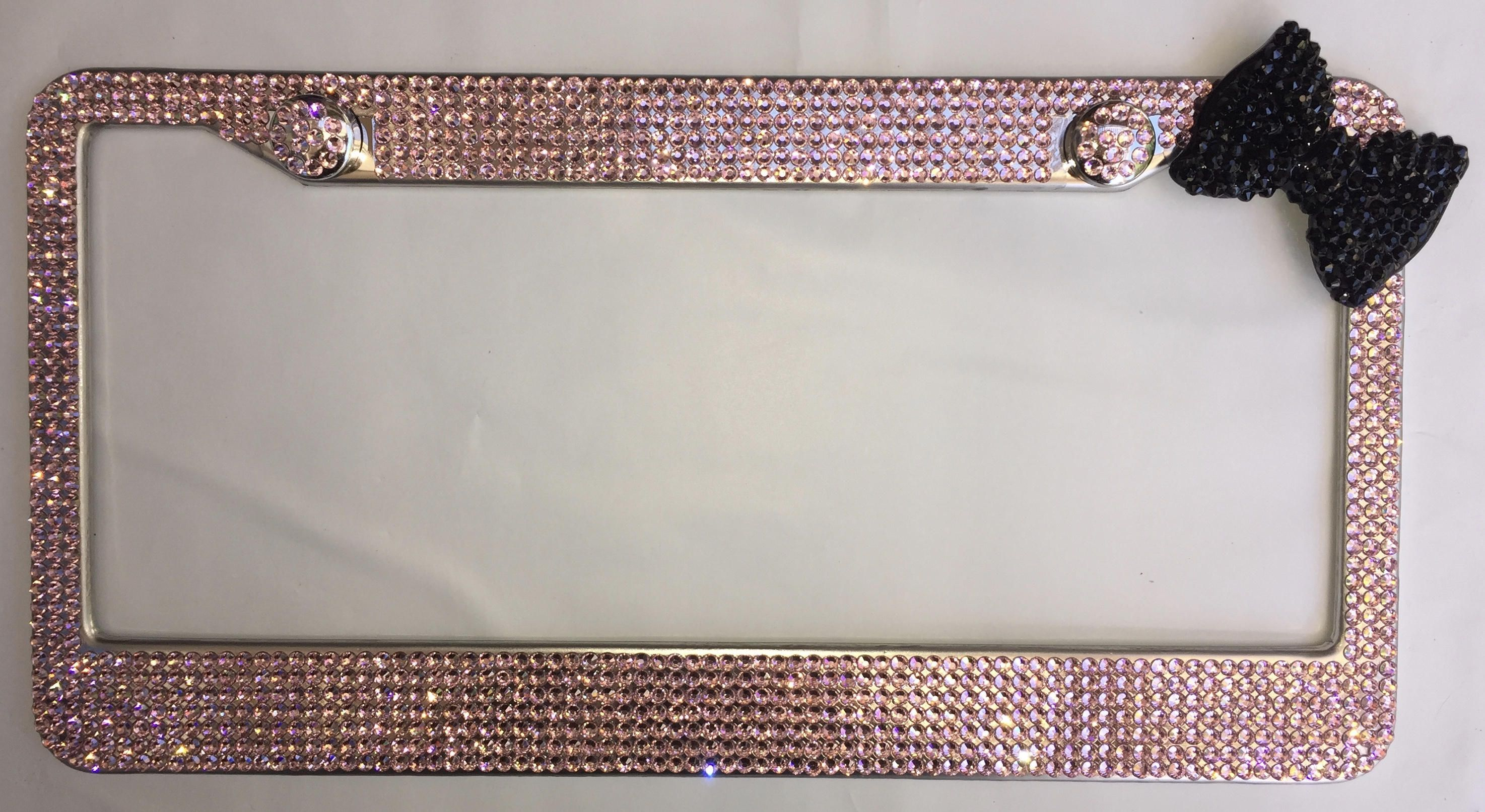 Unique Bling License Plate Frames With Bow Ideas - Picture Frame ...