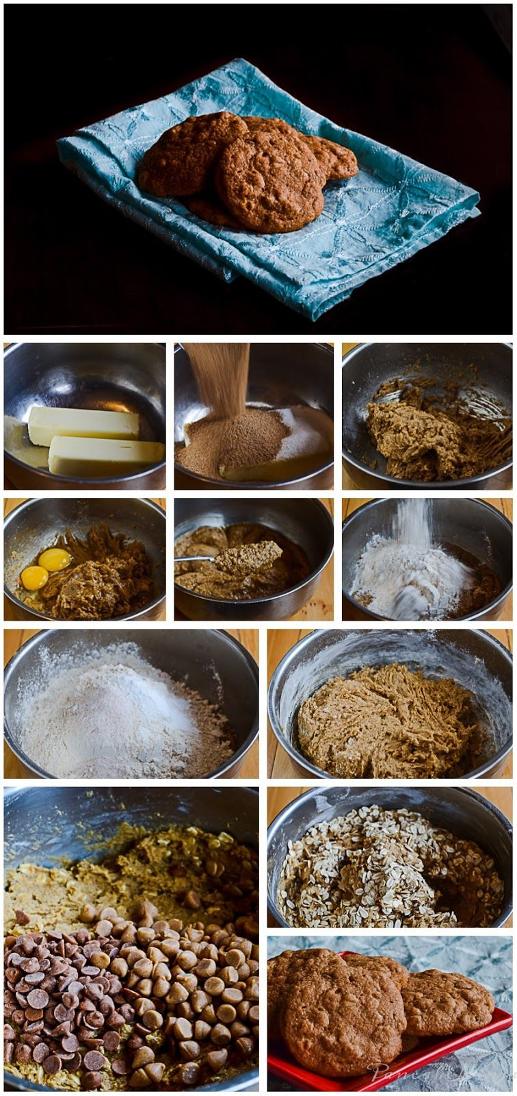 Oatmeal cookies, two kinds ~ Pancake Ninja