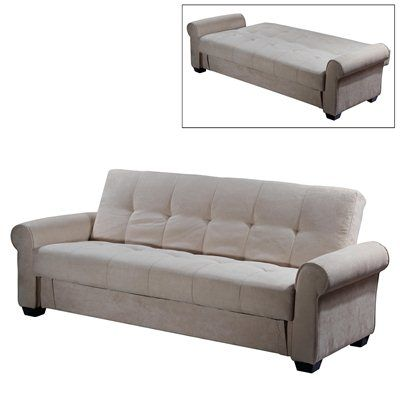 Brighton Convertible Sofa With Storage Seat And Back Cushion Made Of High Density Foam Convoluted
