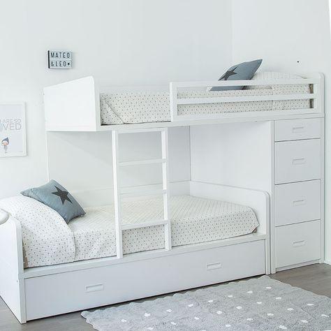 Twin cama tren dormitorio pinterest tren camas y for Dormitorios infantiles literas