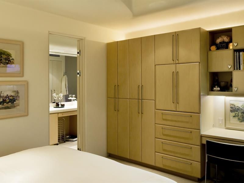 Master Bedroom Storage Ideas custom cabinetry in the master bedroom offer plenty of storage