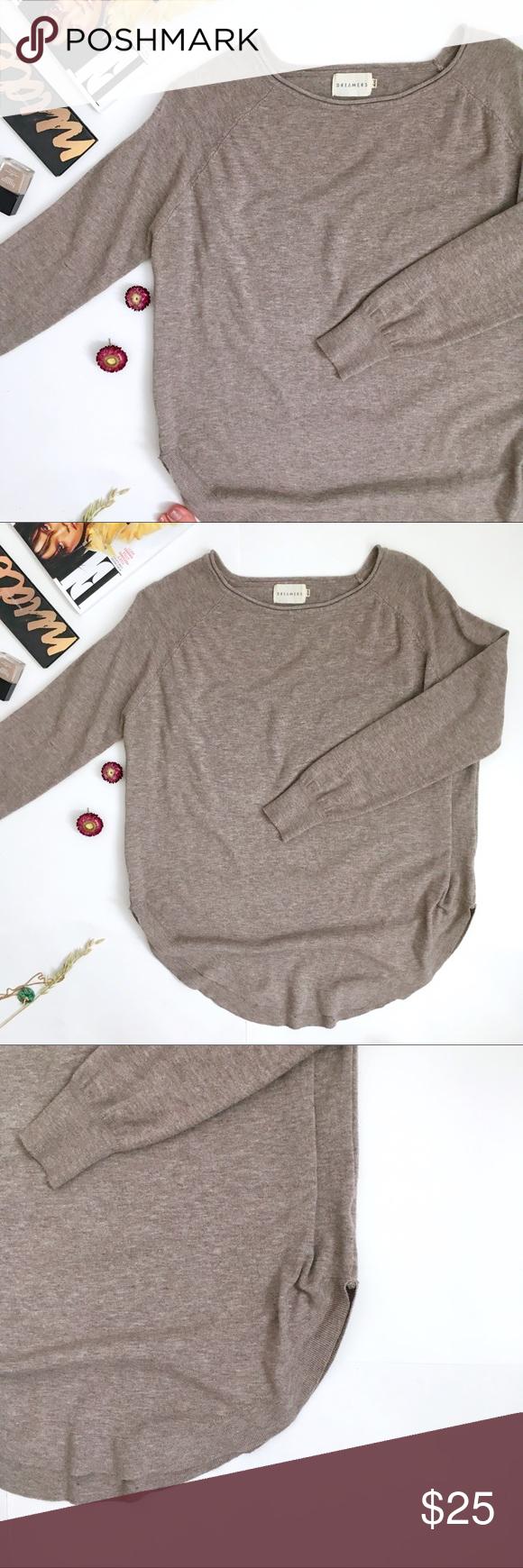 Dreamers Light brown crew neck lightweight sweater | Light browns ...