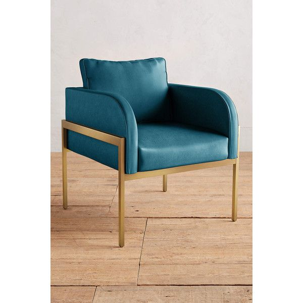 Anthropologie Premium Leather Ardmore Chair (2,370 CAD) ❤ Liked On Polyvore  Featuring Home,