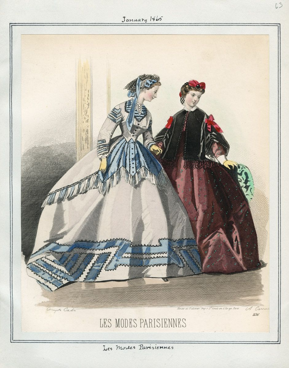 Les Modes Parisiennes: January 1, 1865