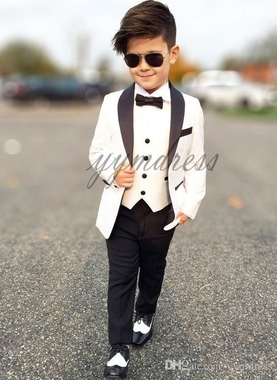 Handsome Boy Wedding Suits 2019 Ring Bearer Suits One Buttons Shawl Lapel Boys Tuxedos Custom Made Jacket Pan Boys Formal Wear Boys Wedding Suits Kids Outfits,Attractive Wedding Dresses For Girls 2020 Pakistani