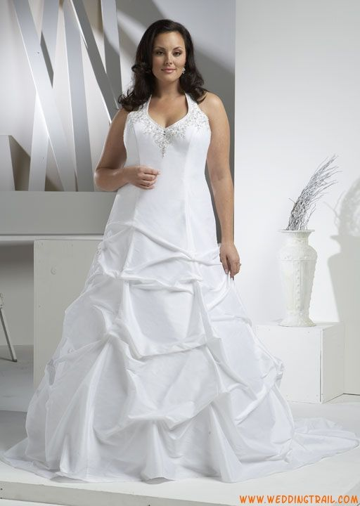 Cheap Informal Casual Smoothy plus Size Taffea Wedding Gowns ...