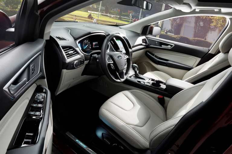 Titanium Interior In The 2017 Ford Edge Ford Edge Ford Edge