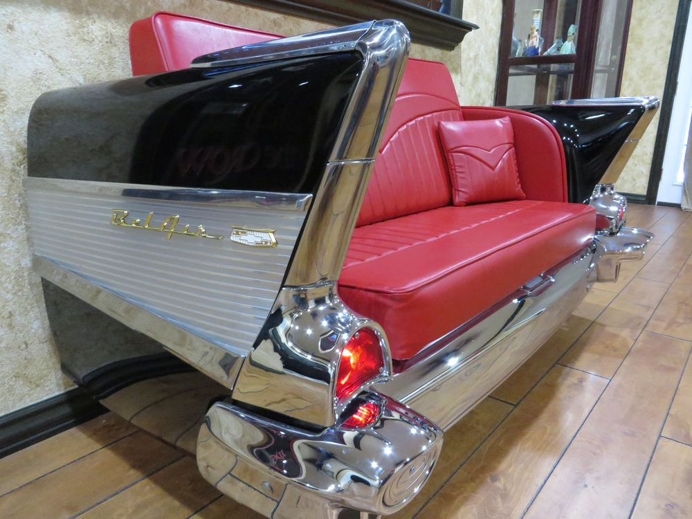 1957 Chevy Bel Air Couch, custom made from original car with working ...
