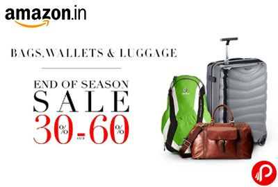 Amazon End of Season Sale offers 30% – 60% off offers Bags ...