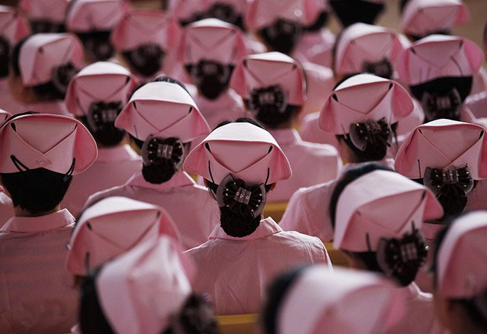 Shenzhen, China: Nurses attend a ceremony marking the 30th anniversary of the founding of the Shenzhen special economic zone