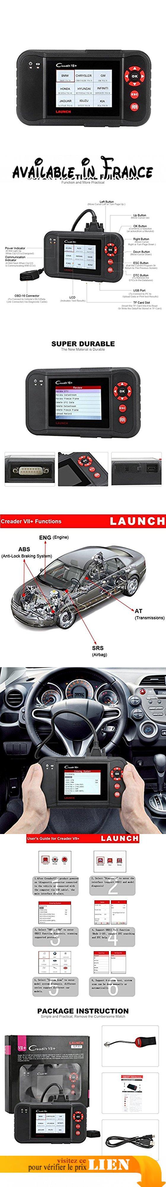 Launch X431 Creader VII+ ( CRP123) Lecteur de code de diagnostic