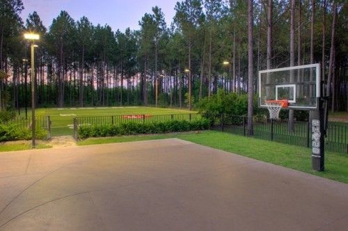 Traditional Exterior By Frankel Building Group For My Boys Basketball Court Backyard Backyard Basketball Home Basketball Court