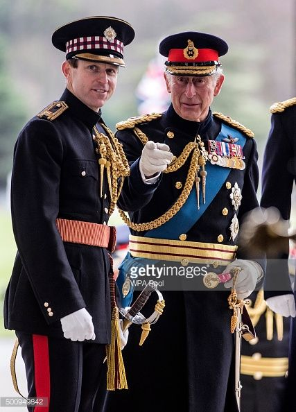 Prince Charles Prince Of Wales Talks With The Sandhurst Adjutant
