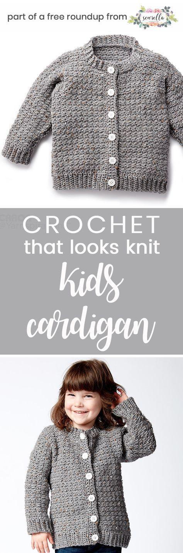 Kids Crochet Patterns that Look Knit