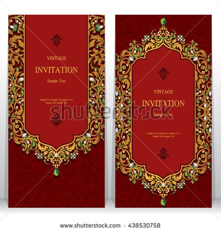 Wedding invitation or card with abstract background islam arabic wedding invitation or card with abstract background islam arabic indian dubai stopboris Choice Image
