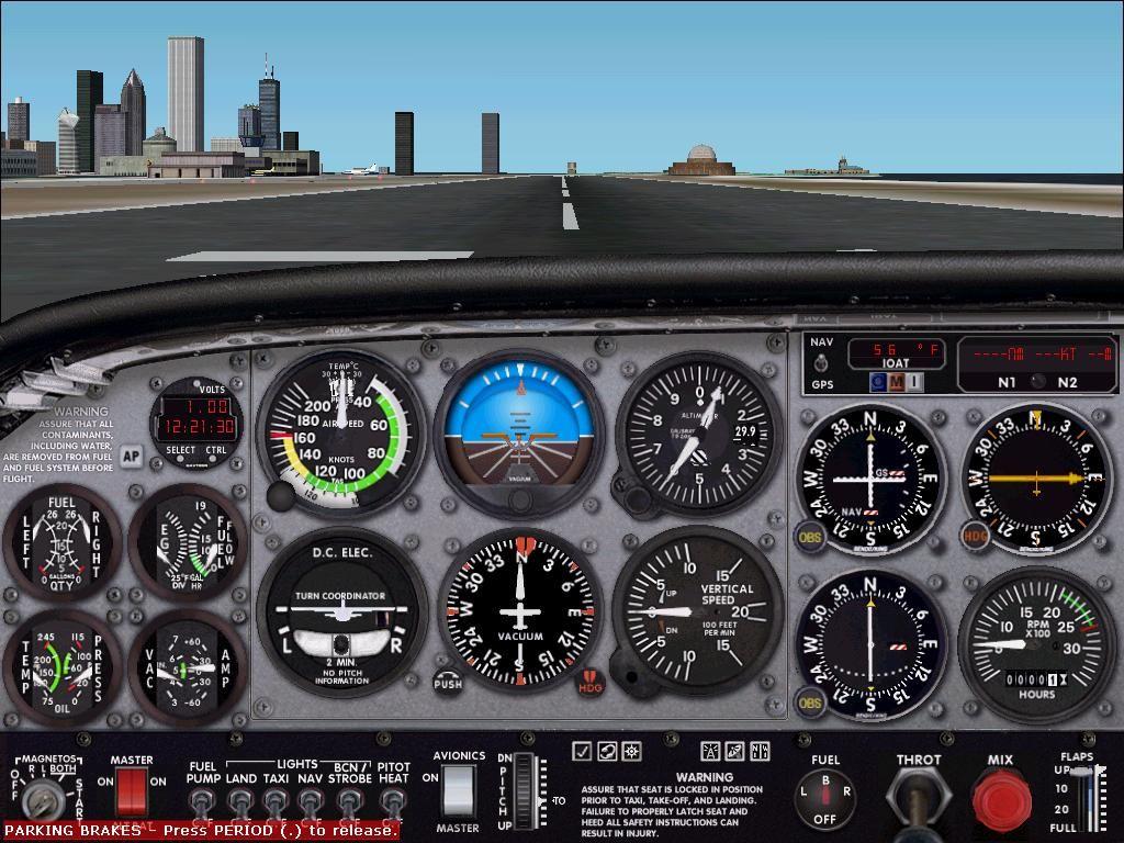 Cessna 172 Skyhawk cockpit simulator | Aviation | Cessna 172