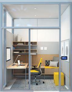 Office Design With Shared And Private Work Areas Google Search Dekorasi Rumah Ruangan Kantor Desain