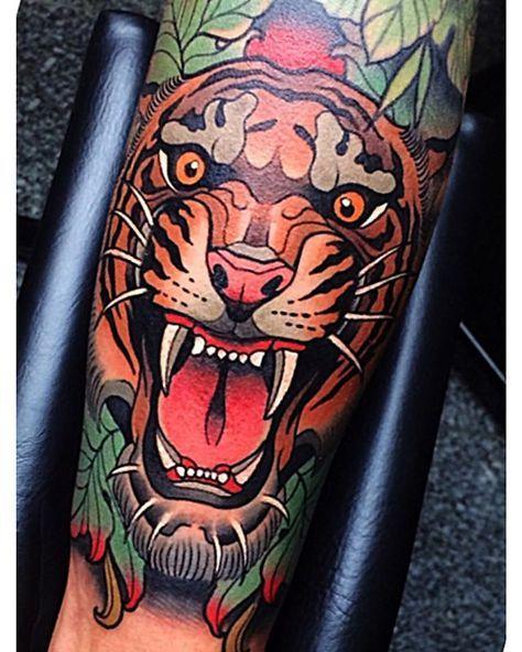 Johnny Domus Tattoos I Like Tattoos Traditional Tattoo Tiger