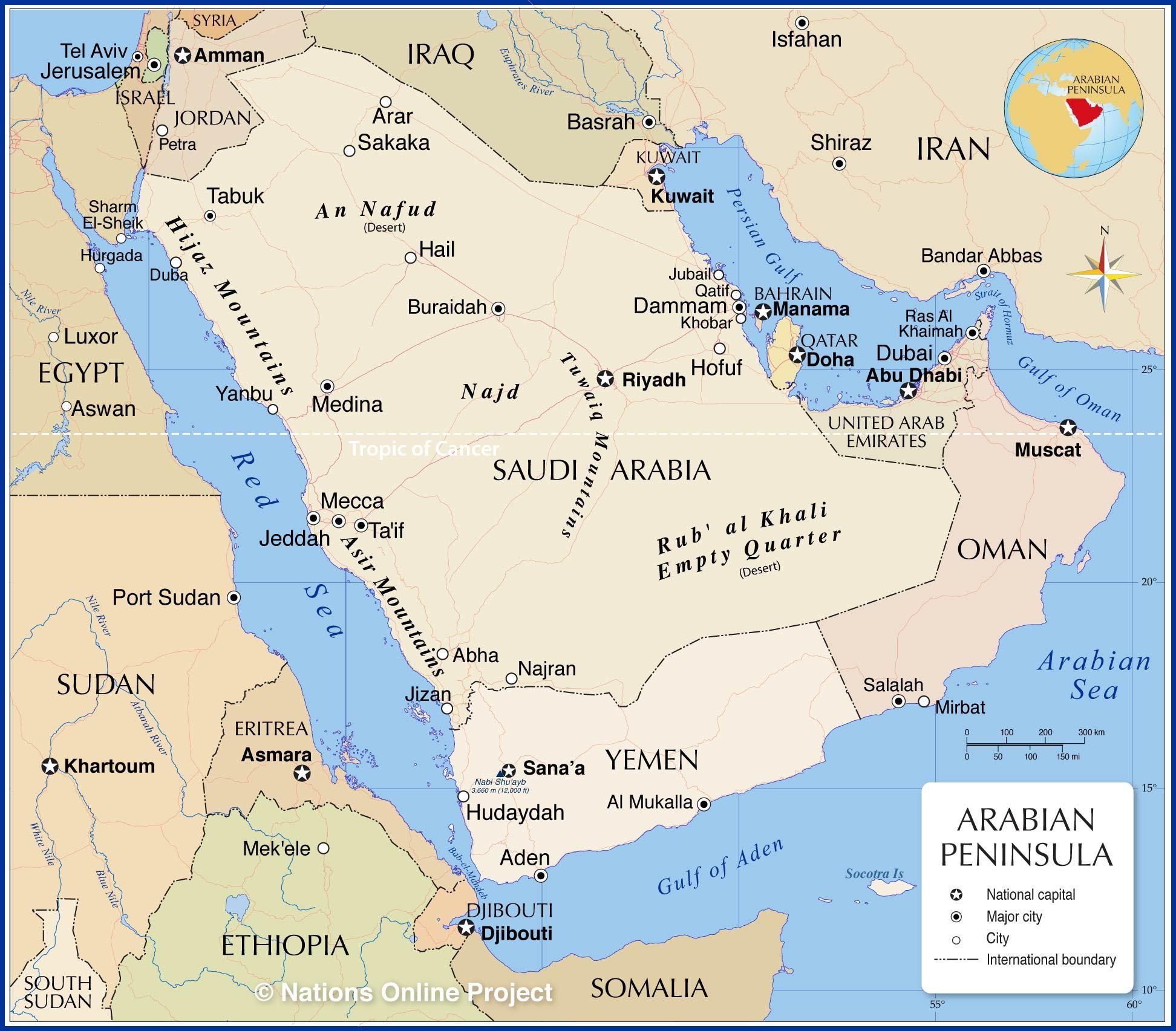 Arabian Peninsula Map