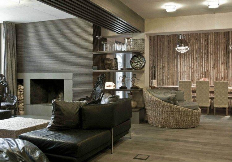 Modernes Wohnzimmer Offen Gestaltet   Grau Und Beige Treffen Sich