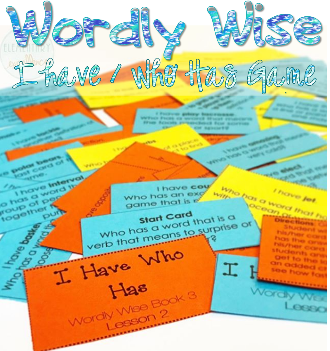 I Have Who Has Game Wordly Wise Book 3 Lesson 1