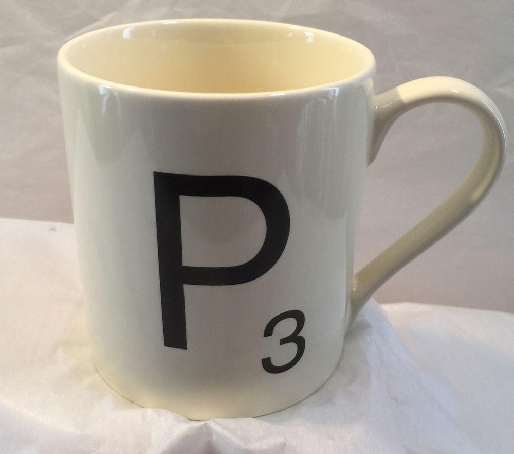 Scrabble tile mug cup coffee tea letter p ceramic wild and wolf scrabble tile mug cup coffee tea letter p ceramic wild wolf ltd 2012 hasbro dailygadgetfo Gallery