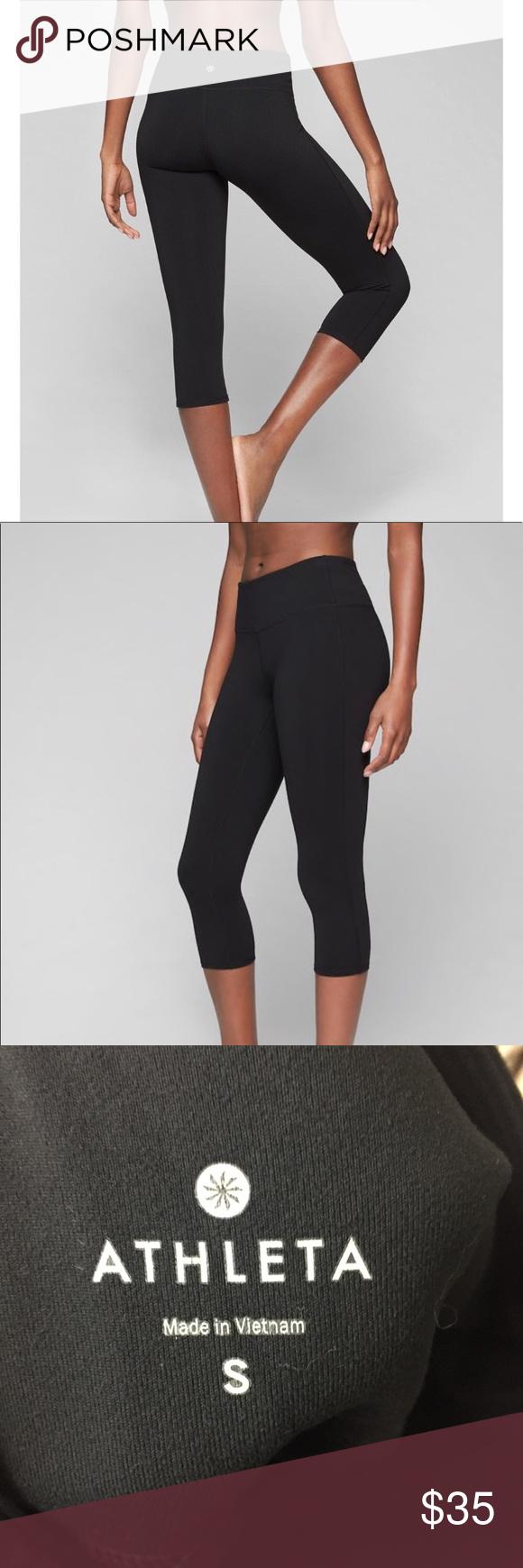 Athleta Leggings Black Workout Capri Small Athleta Leggings Workout Capris Black Leggings