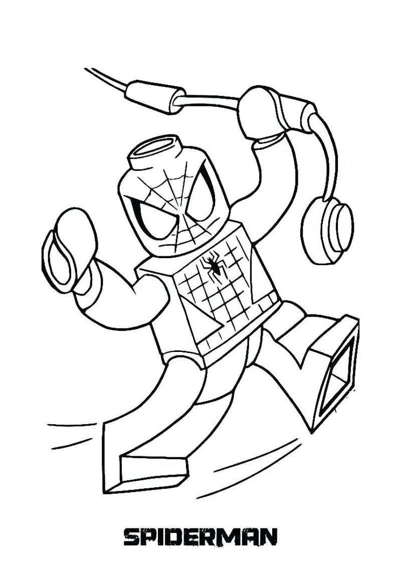 Free Lego Marvel Superheroes Coloring Pages Marvel Is The Background For All 22 Films Starring In 2020 Lego Coloring Pages Superhero Coloring Pages Spiderman Coloring