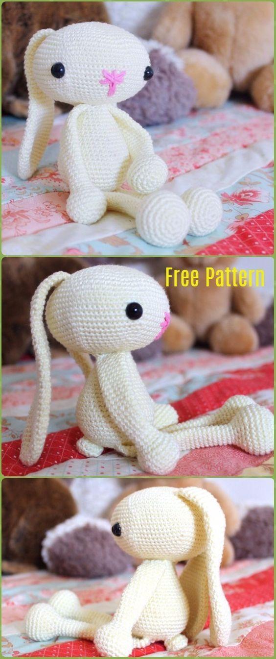 Crochet Amigurumi Bunny Toy Free Patterns Instructions | Conejo