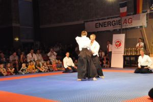 Aikidovorführung in Neuhofen / Krems im Rahmen des Karate Camps am 1. August 2015 - Ryote Dori