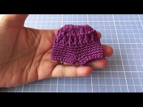 Short Em Croche Para Blythe Passo A Passo Roupas De Croche Para