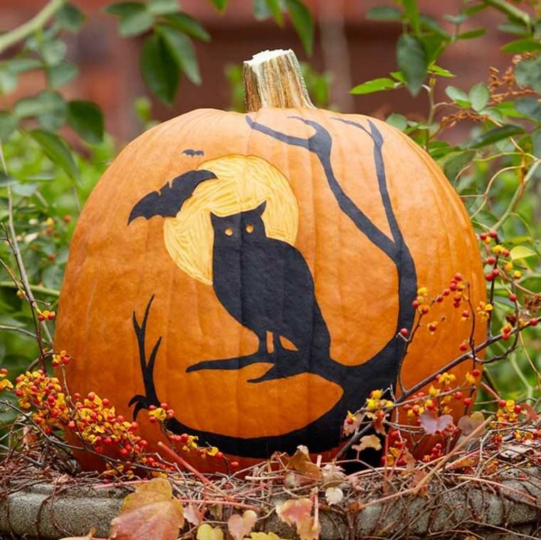 Citrouille Halloween décoration terrifiante, élégante ou