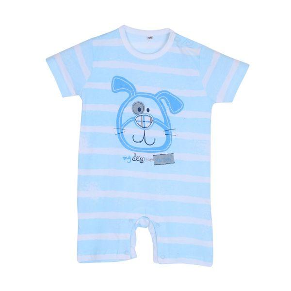 Playpen BabyВ® White Panda Printed Short Sleeve Romper