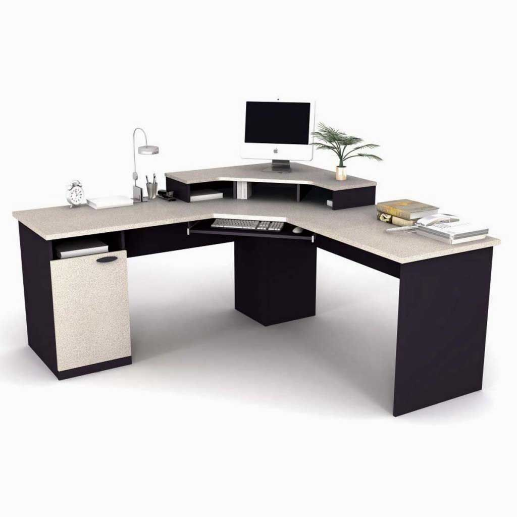 Bestar Stylish Contemporary Corner Office Computer Desk Office