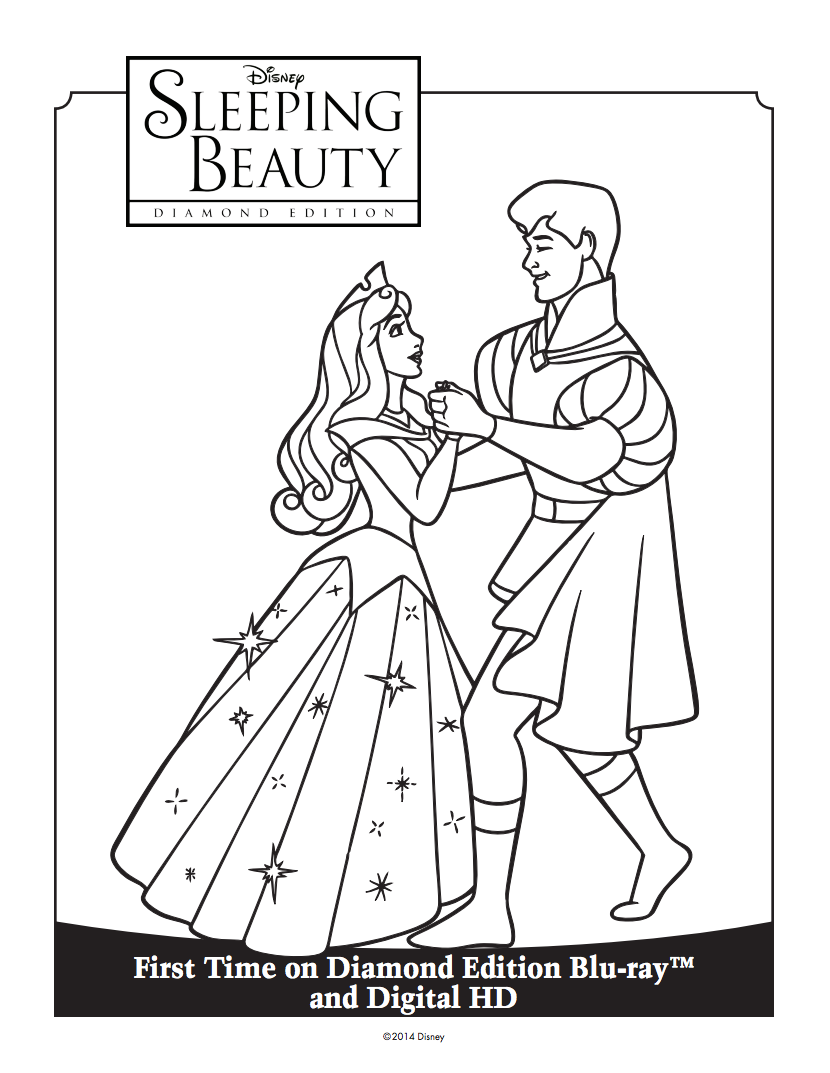 For All Those Celebrating The Re Release Of Disney Movie Sleeping Beauty Come These Colouring Pages I Remember Pictures Like