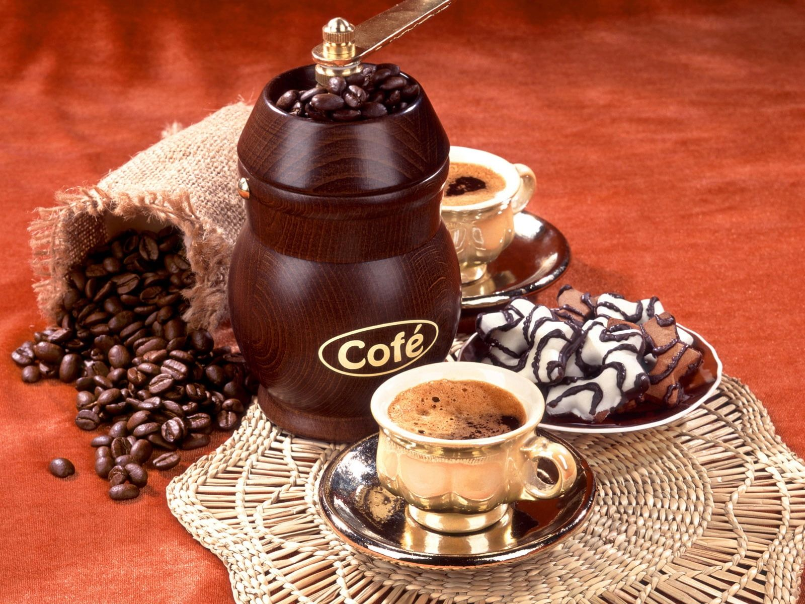 Brown Cofe Coffee Grinder And Cup Coffee Beans Coffee Coffee Grinder Cookies 720p Wallpaper Hdwallpaper Desktop Coffee Time Chocolate Coffee Coffee Cafe