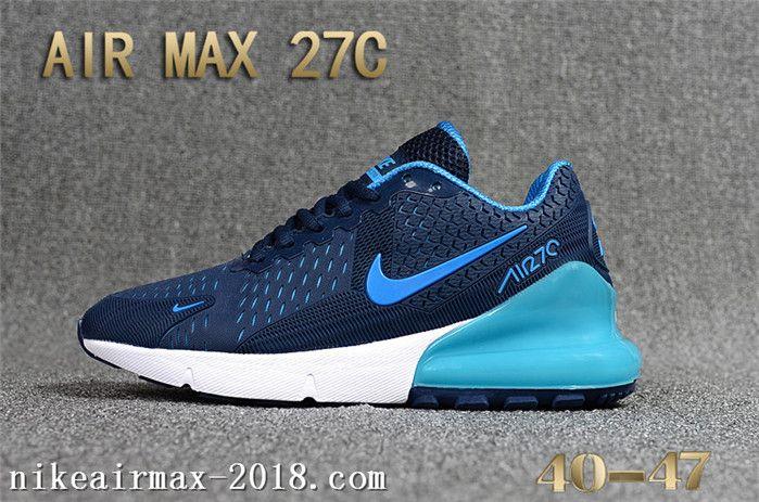 brand new 85911 f84ac 2018 Cheap Nike Air Max 270 KPU Nice Mens Sneakers Navy Blue White